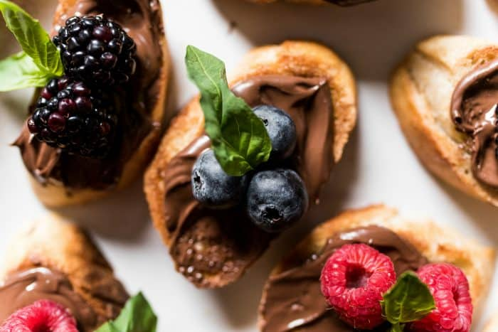 Berry LOVER Nutella Berry Bruschetta Recipe