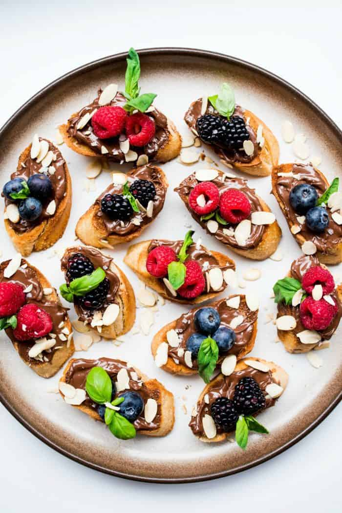 Nutella Berry Bruschetta
