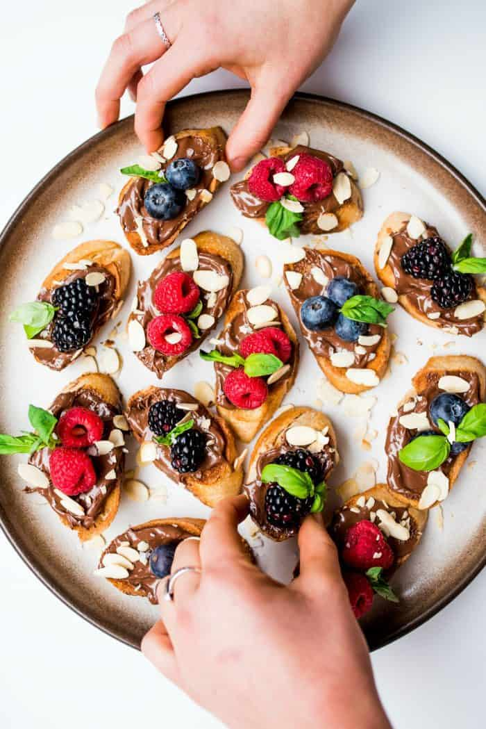 Best Nutella Berry Bruschetta