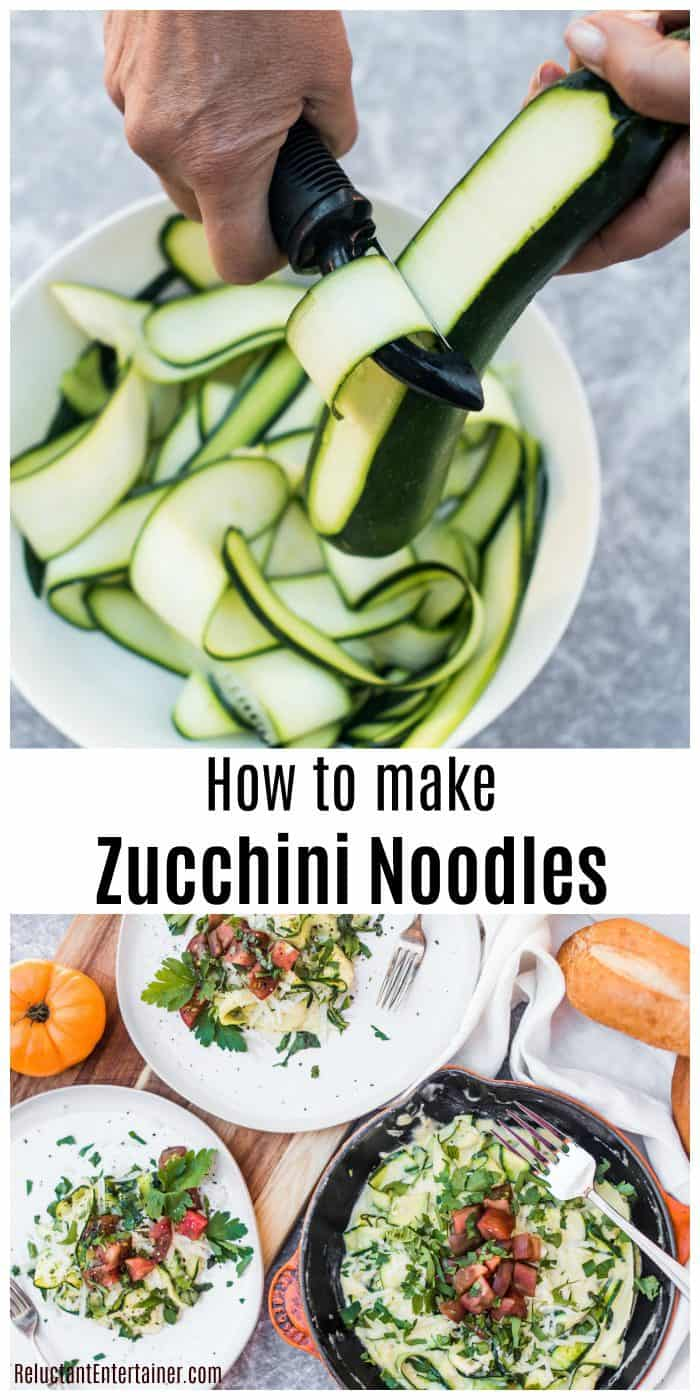 How to Make Zucchini Noodles with a Peeler Recipe