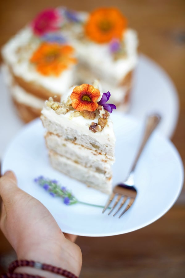 Banana Walnut Cake with Cream Cheese Frosting Recipe
