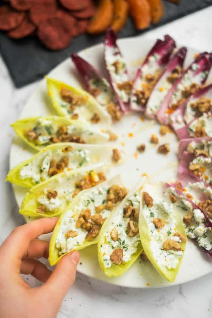 BEST Stuffed Endive with Walnuts and Honey Recipe