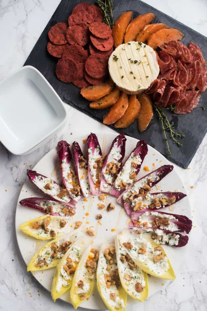 Game Day Stuffed Endive with Walnuts and Honey Recipe
