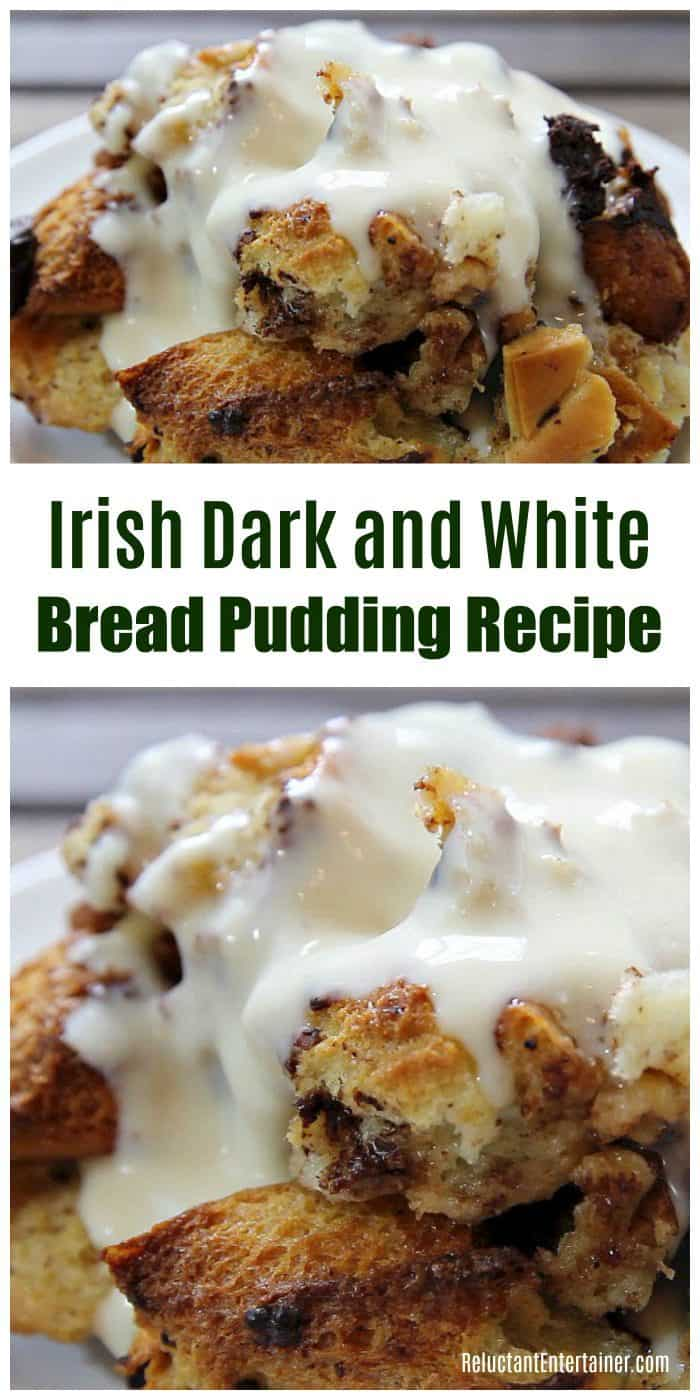 BEST Irish Dark and White Bread Pudding Recipe