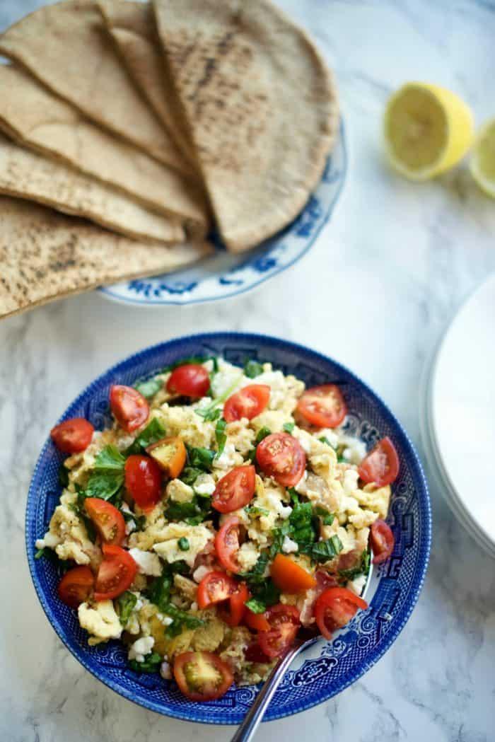 Greek Scrambled Egg Pockets Recipe