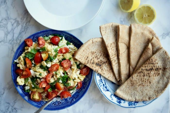 Easy Greek Scrambled Egg Pockets Recipe