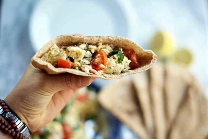 Simple Greek Scrambled Egg Pockets Recipe