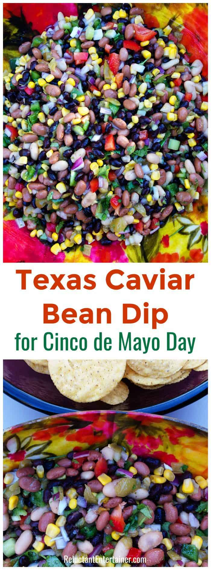 Texas Caviar Bean Dip for Cinco de Mayo Day
