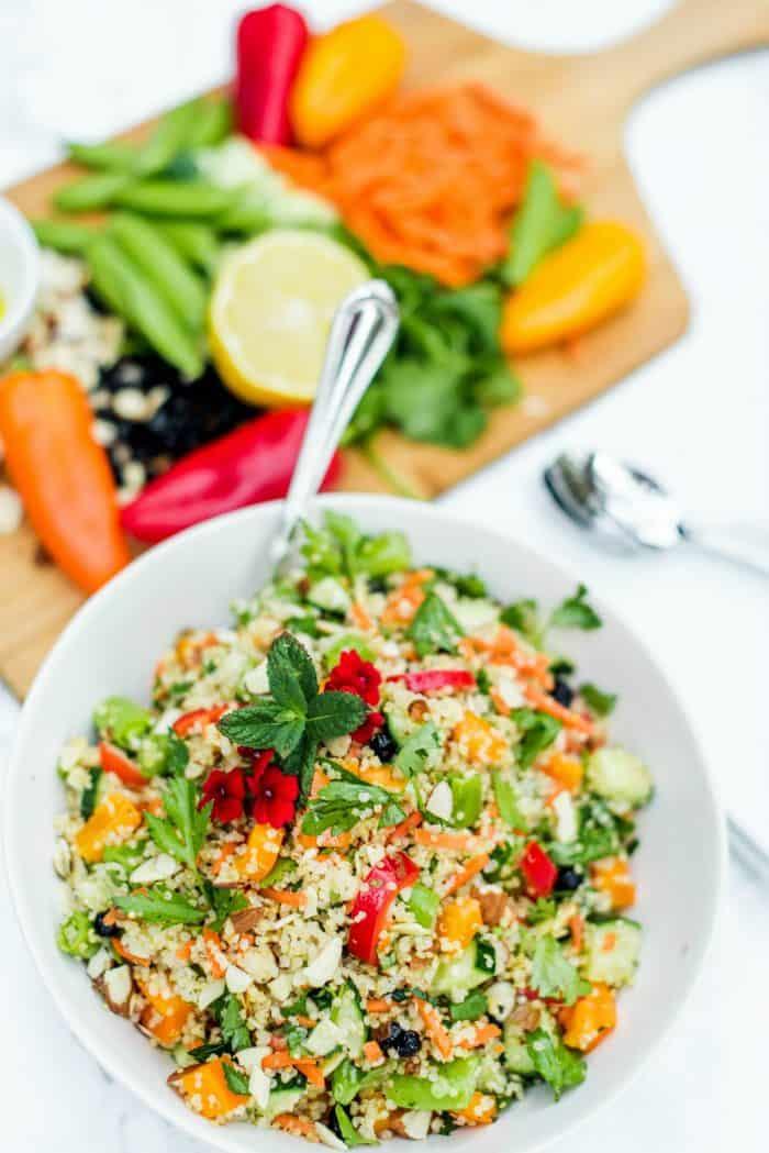 Tasty Quinoa and Currant Summer Salad Recipe