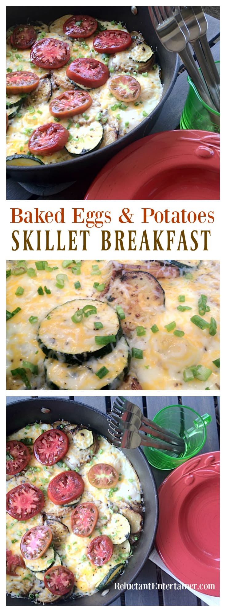 Baked Eggs and Potatoes Skillet Breakfast