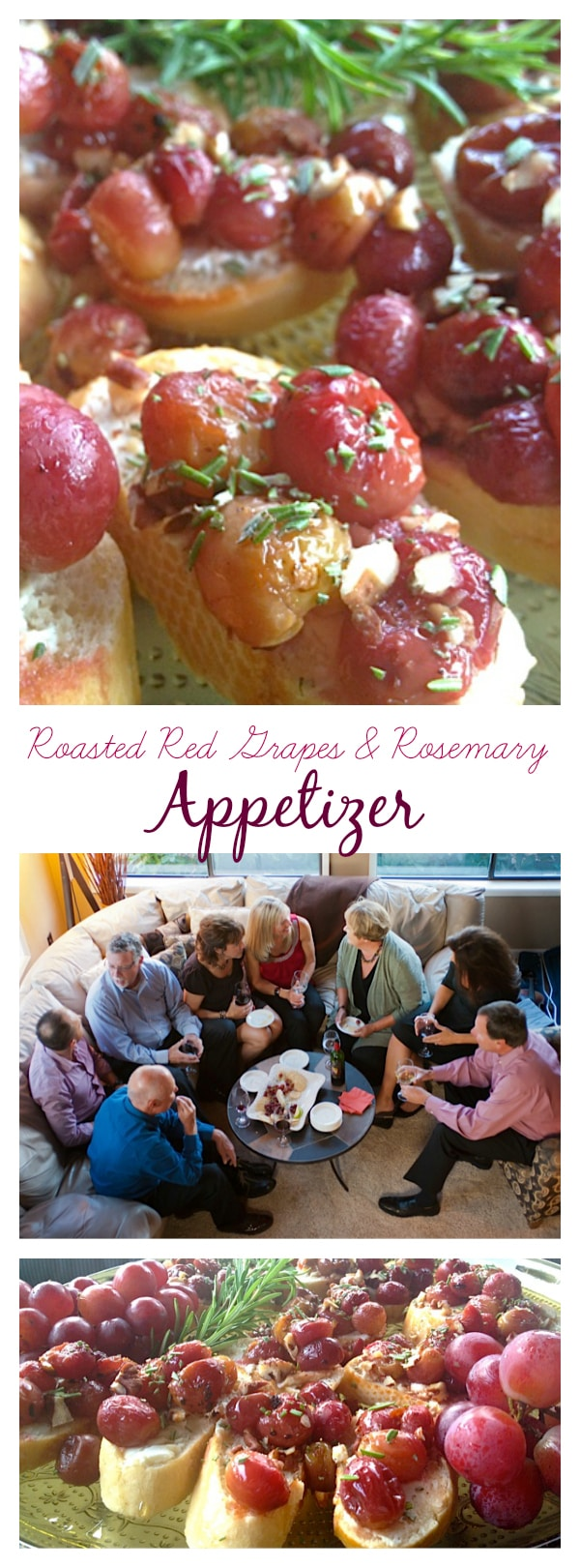 The Purpose of the Home (easy entertaining) with Roasted Red Grapes & Rosemary Appetizer