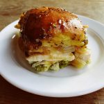 Turkey Pesto Onion Cheese Poppyseed Sliders Recipe