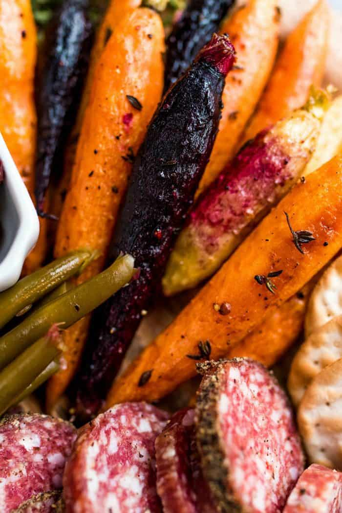 Roasted Carrots Easy Appetizer Recipe - charcuterie