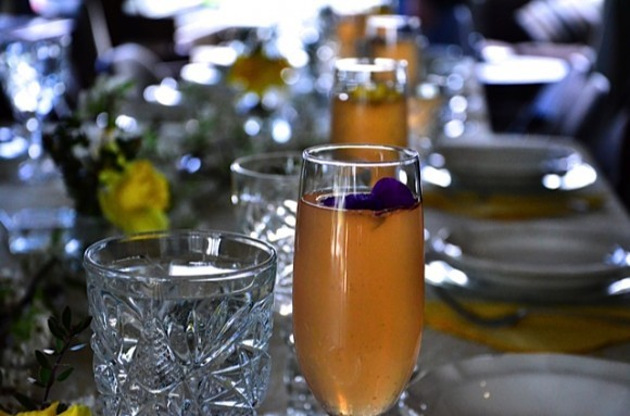 edible flowers in drinks | reluctant entertainer.com