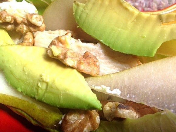 Tyson Chicken Pear Avocado Wrap | Reluctant Entertainer