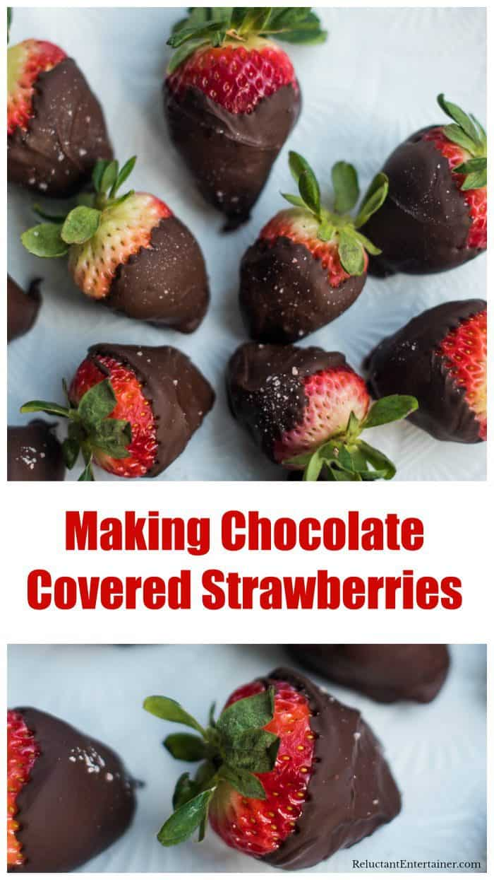 Making Chocolate Covered Strawberries