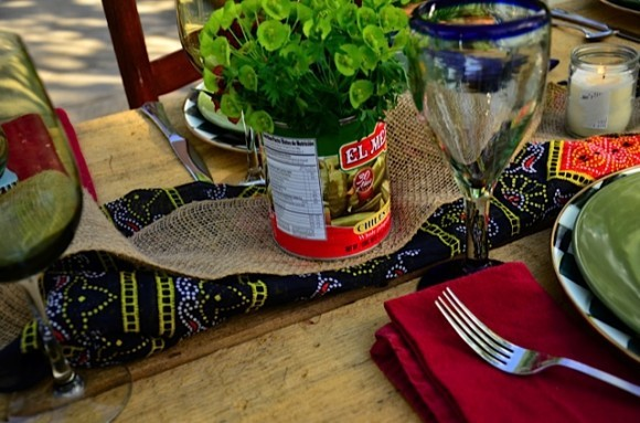 Repurposing cans for tabletop