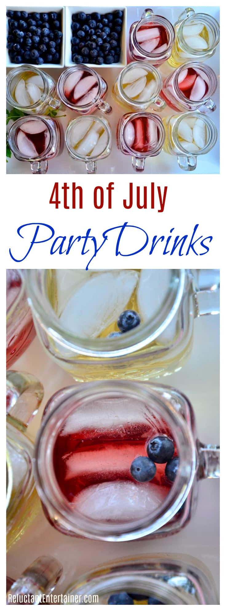 4th of July Party Drinks Display