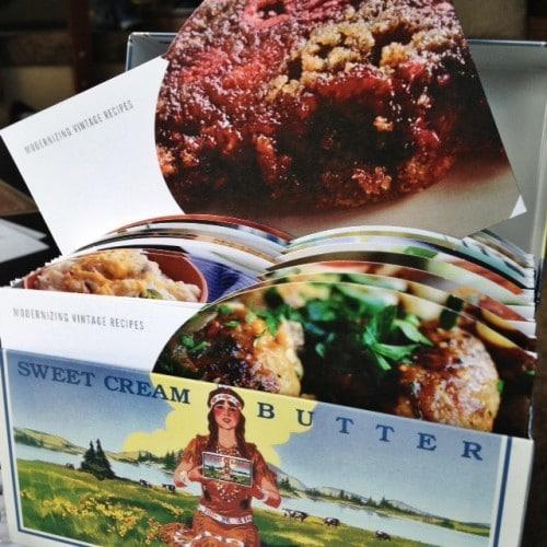 Raspberry Butter Cake vintage box