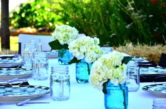 Hydrangea Tabletop | Reluctant Entertainer