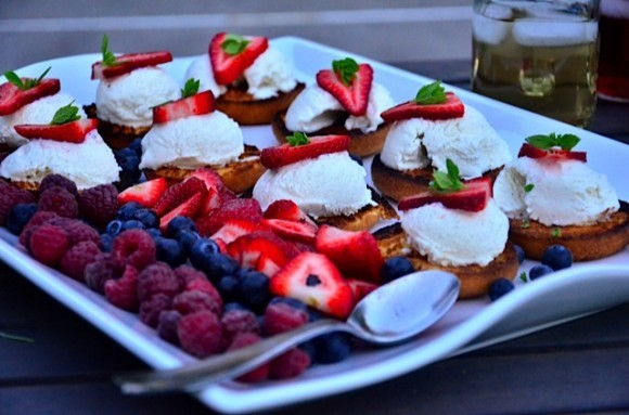 Grilled Cake Donuts with Berries