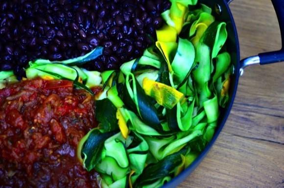 Bush's Black Bean Burrito with Cheese and Summer Squash