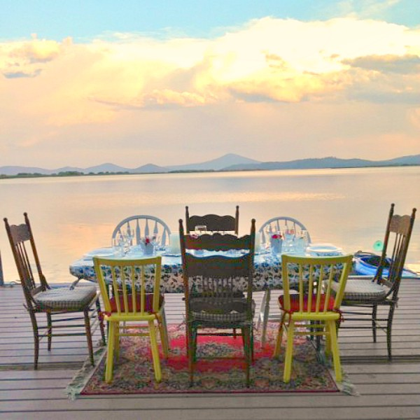 Lake Dinner with Summer Zucchini Galette