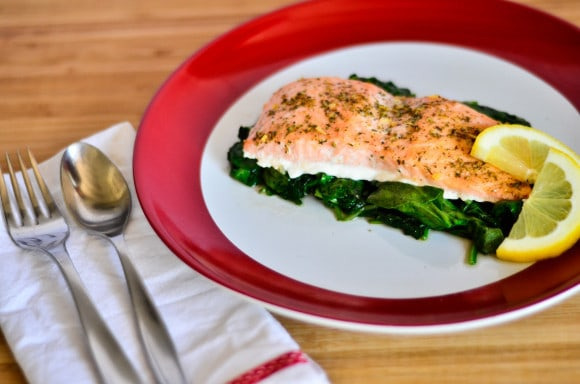 Salmon with Saute' Express
