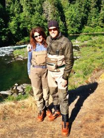 Fly fishing North Umpqua River