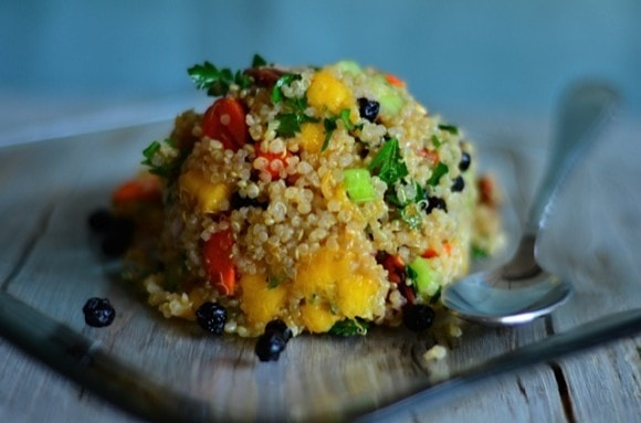 Oregold Peaches Quinoa Salad from Reluctant Entertainer