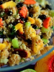 Peaches Quinoa Salad