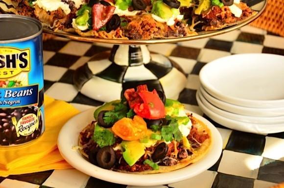 Bush's Black Bean Mexican Pizza