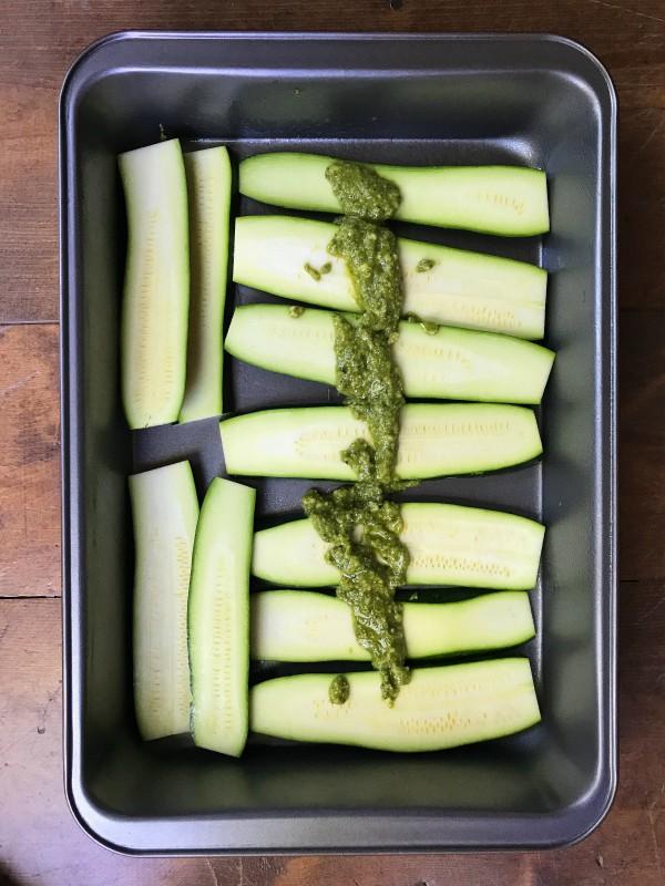 zucchini and pesto