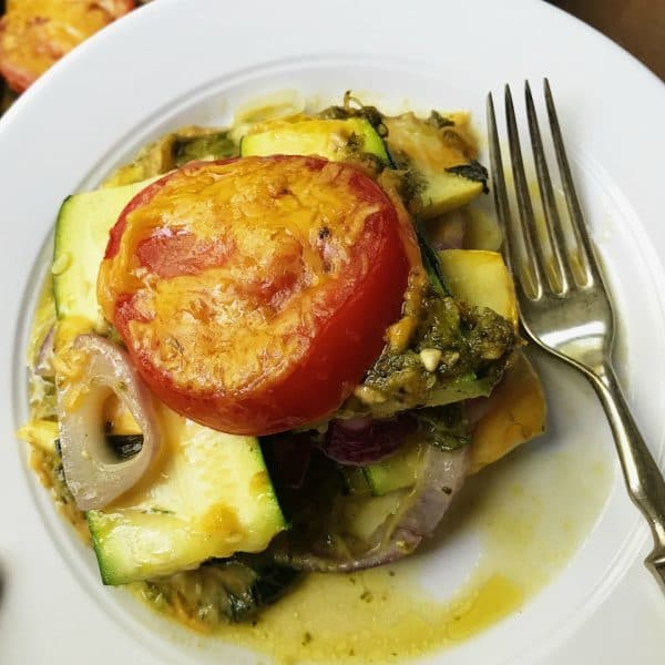 plate of Summer Squash Casserole