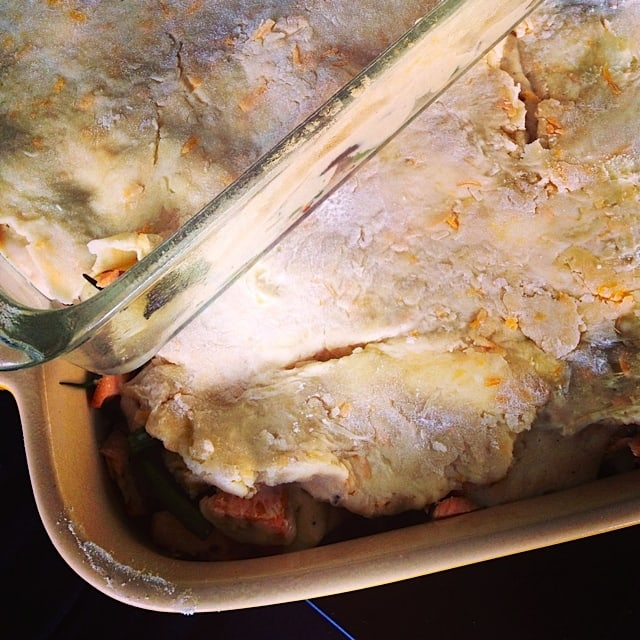 Leftovers Barbecue Potpie with Cheesy Crust