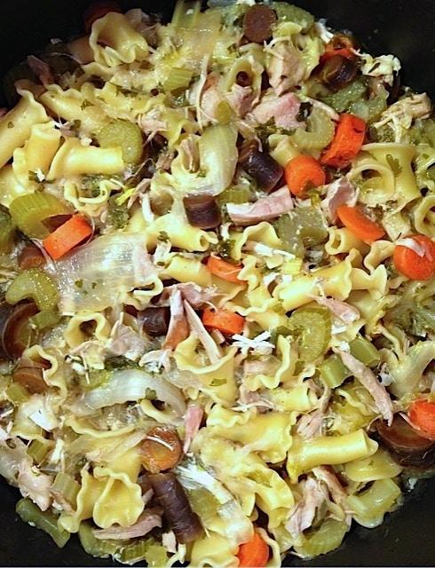 Rotisserie Chicken Noodle Soup | Reluctant Entertainer.com