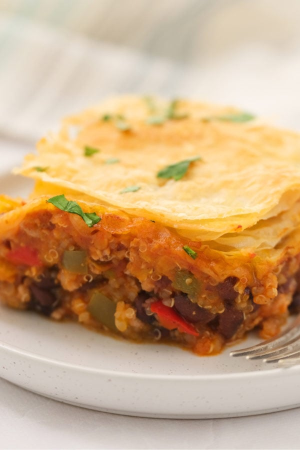 piece of Holiday Leftover Chili Pot Pie