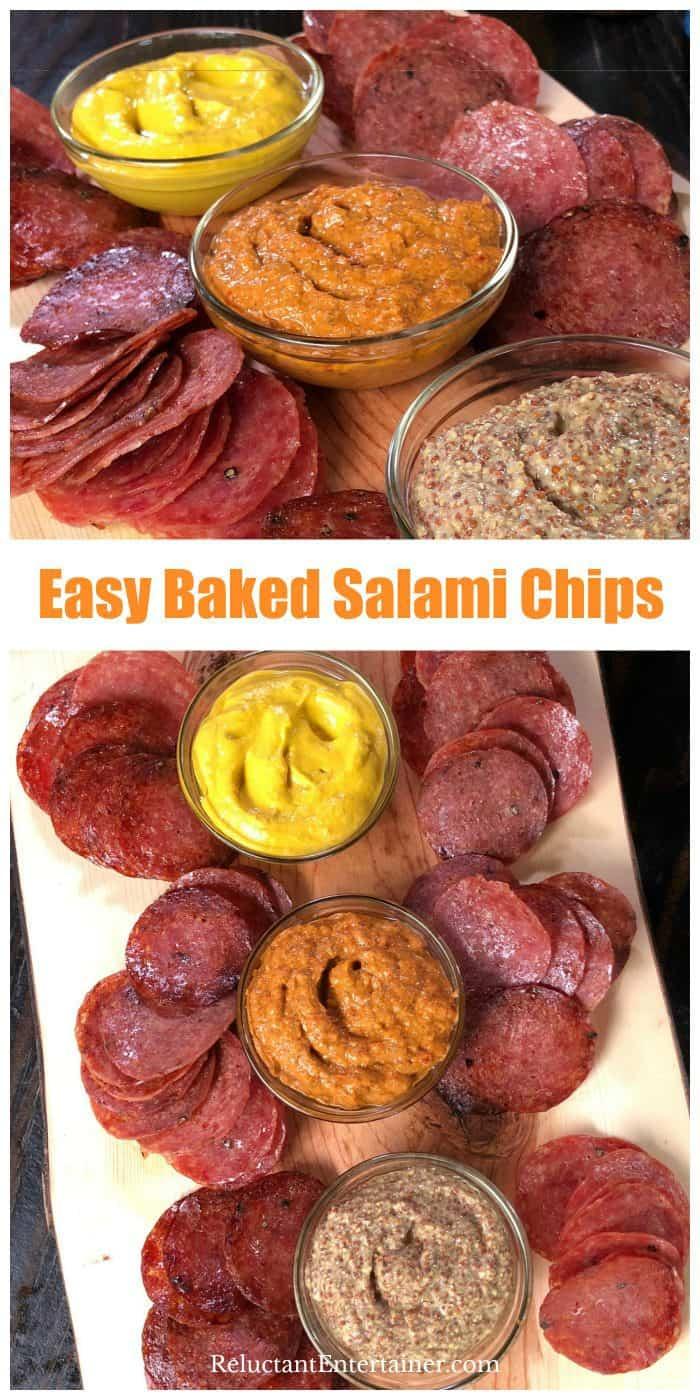 BEST EVER Baked Salami Chips