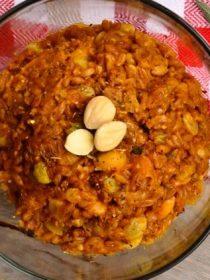 Cheesy Pumpkin Farro with Marcona Almonds
