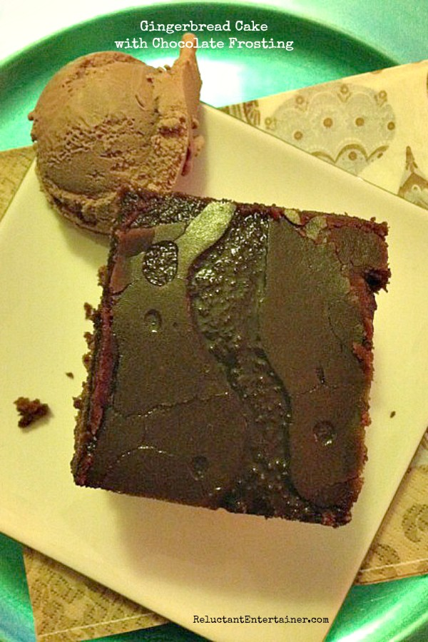 Gingerbread Cake with Chocolate Frosting