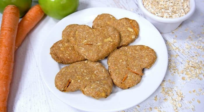Homemade Apple Carrot Dog Biscuits recipe