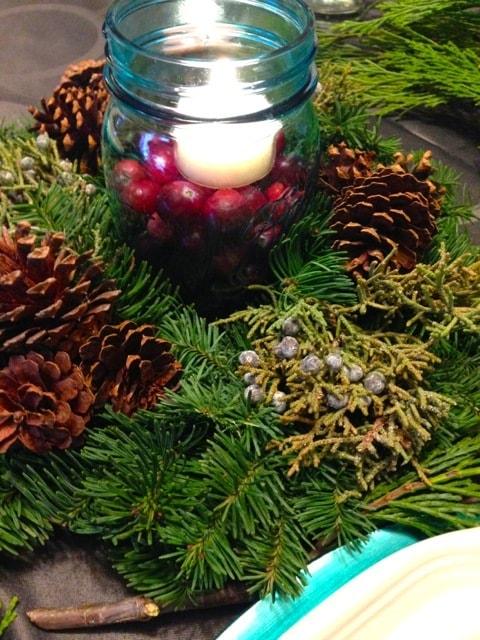 Blue & Green Christmas Table