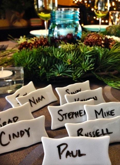 Christmas Erasable Place Cards
