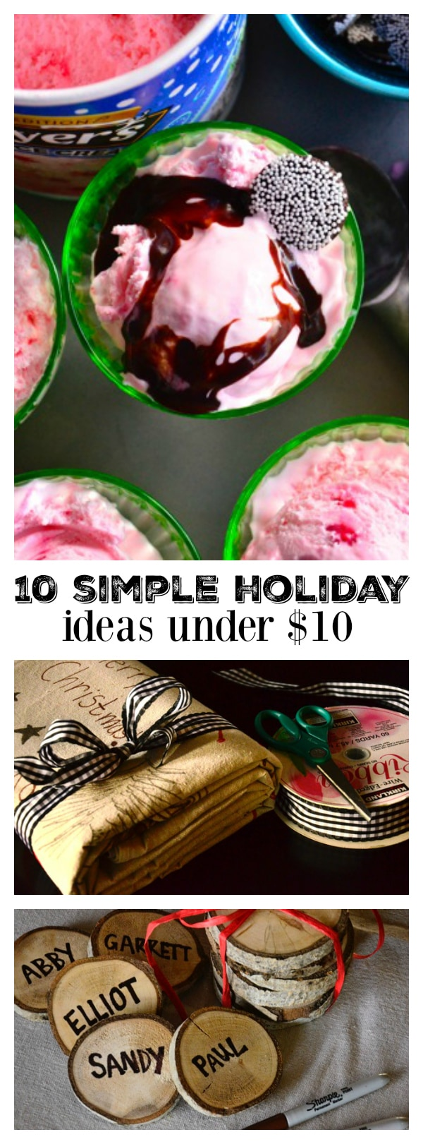 Today I'm sharing 10 Simple Ideas under $10 that will hopefully give you some fresh ideas and a sense of freedom in this last week before Christmas.