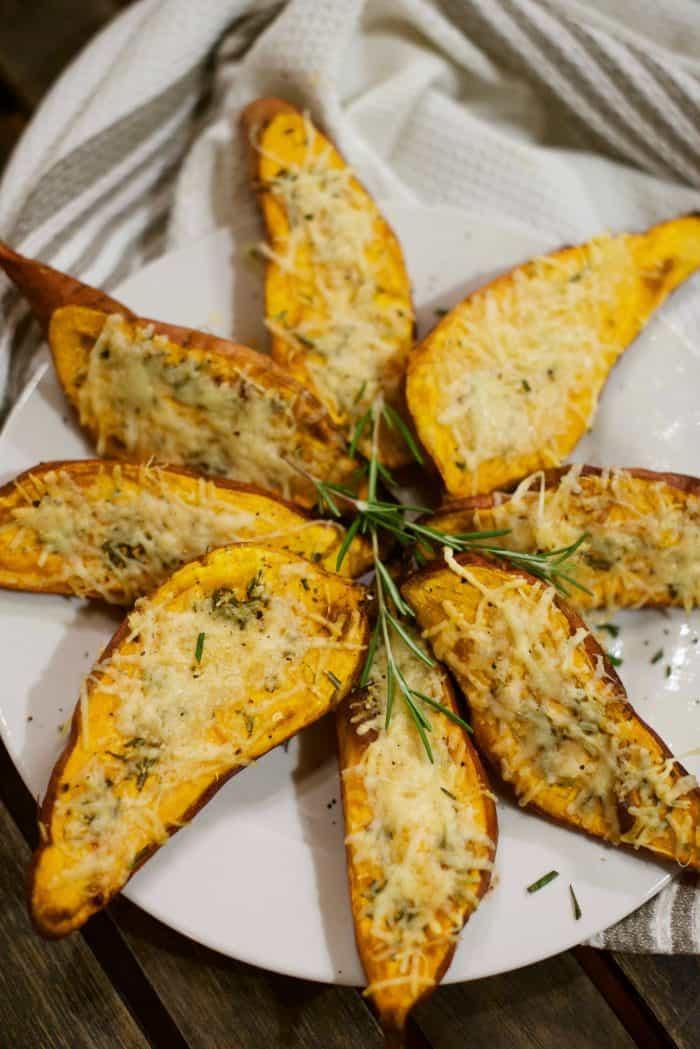 DELISH Roasted Sweet Potatoes with Rosemary