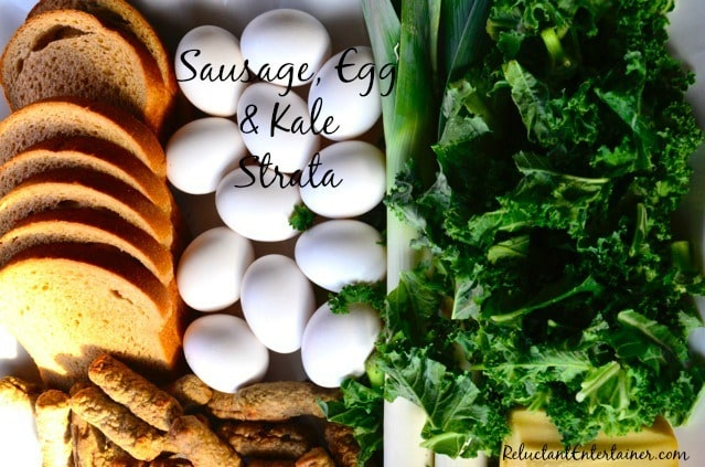 Sausage, Egg & Kale Strata
