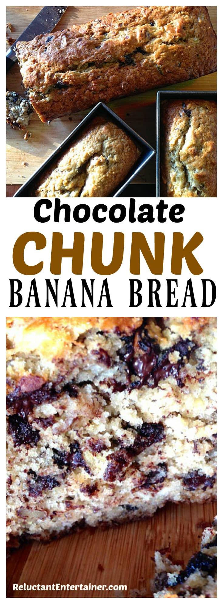 Chocolate Chunk Banana Bread Pecans Recipe