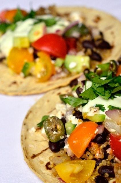 Greek Quinoa Tacos from ReluctantEntertainer.com