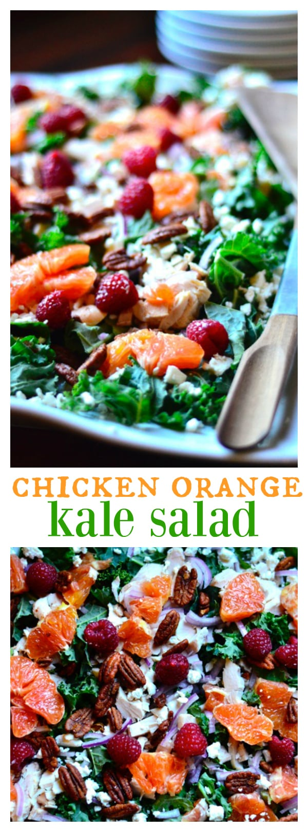 Chicken, Orange and Kale Salad