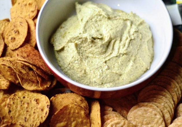 White Bean Hummus with Basil